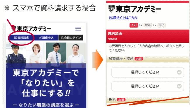 東京アカデミーに資料請求する方法