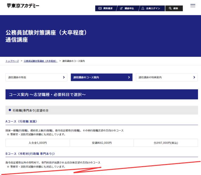 東京アカデミー 授業料